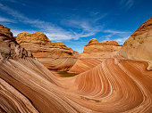 The Wave sandstone formation in Coyote Buttes, Arizona.