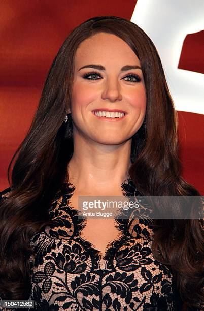 The wax figure of Catherine Duchess of Cambridge is unveiled at 'Madame Tussauds Berlin' on August 17 2012 in Berlin Germany