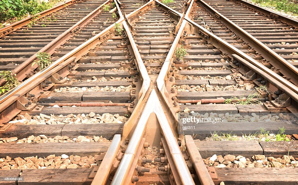 The way forward railway : Stock Photo