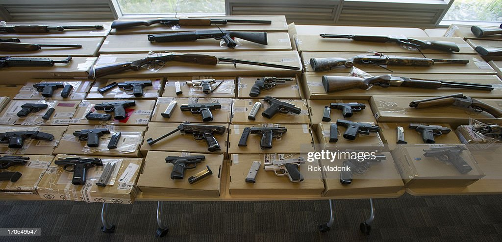 The weapons seized during Project Traveller, a year long investigation into guns and drugs in the city's north west section. Money and guns were shown to the media at 23 Division this morning after yesterday's raids. Toronto Police launched a massive predawn raid On June 13, 2013, as part of Project Traveller, targeting guns and drugs, and focusing on the Toronto neighbourhood that is ground zero for the Mayor Rob Ford crack video scandal.