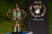 The Webb Ellis Cup visits the World Food Programme building Rome as part of the Rugby World Cup Trophy Tour delivered in partnership with Land Rover...