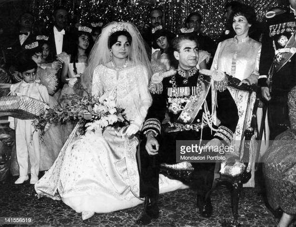 The wedding between the Shah of Persia Mohammad Reza Pahlavi and Farah Diba Tehran 21st December 1959