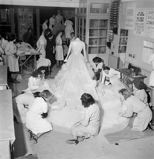The Wedding Dress For Princess Soraya Made At Dior In Paris Pictures ...