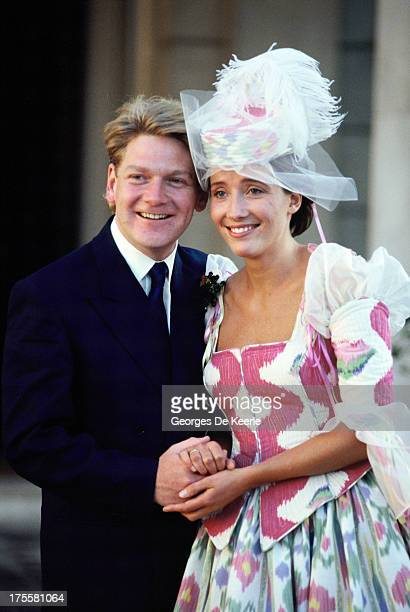 The wedding of actors Kenneth Branagh and Emma Thompson on August 20 1989 in London England