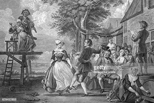 The wedding of cloris and rosette dutch copper engraving by p tanje 18th century