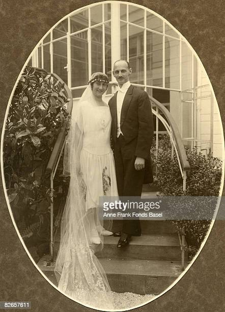 The wedding of Edith Hollander and Otto Frank the parents of Anne Frank in Aachen 12th May 1925