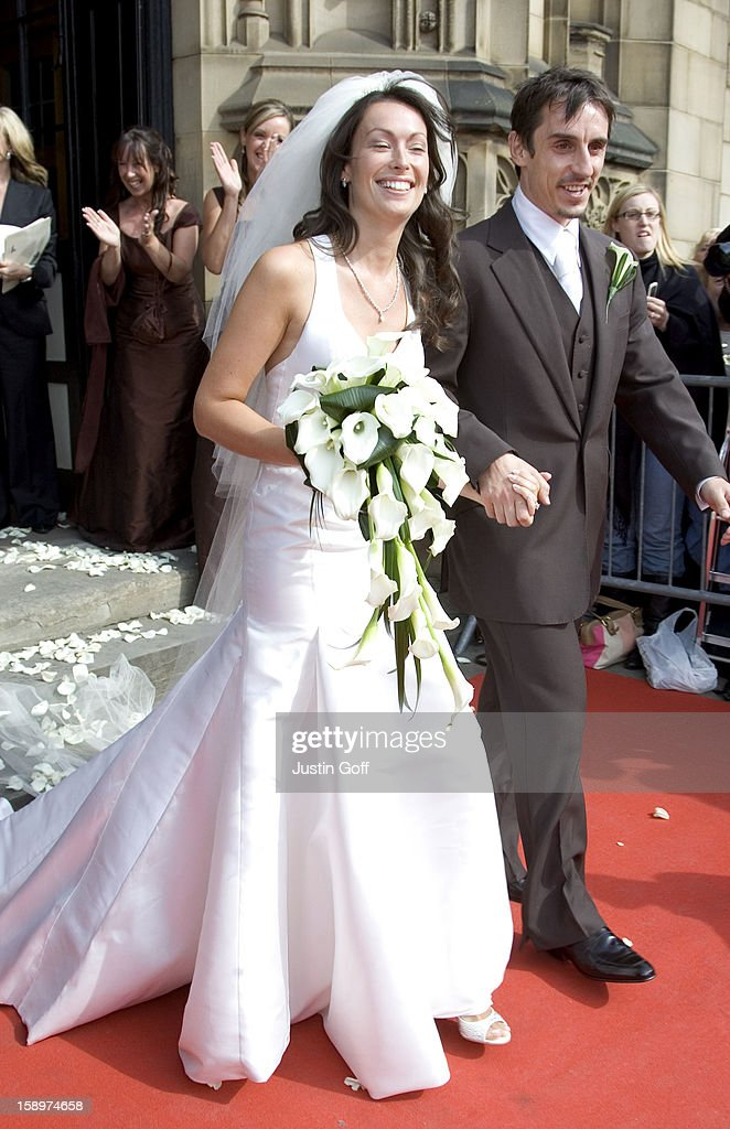 The Wedding Of Gary Neville Emma Hadfield At Manchester Cathedral In Pictture