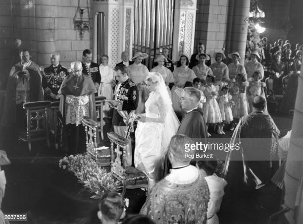 The wedding of Grace Kelly and Prince Rainier III of Monaco at Monaco Cathedral
