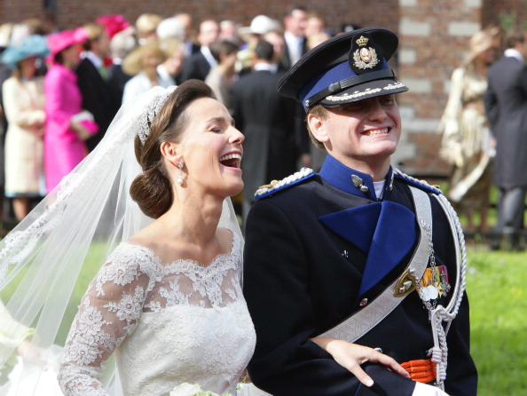 Prince pieter christiaan stock photos and pictures getty for Julian alexander wedding dresses
