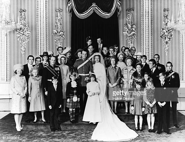 The Wedding party of Princess Anne and Mark Phillips