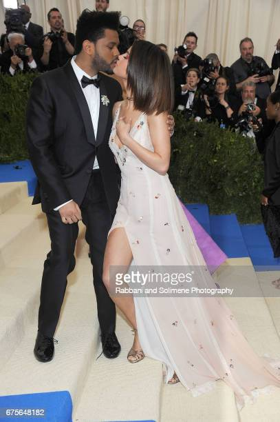 The Weekend and Selena Gomez attends 'Rei Kawakubo/Comme des Garcons Art Of The InBetween' Costume Institute Gala Arrivals at Metropolitan Museum of...