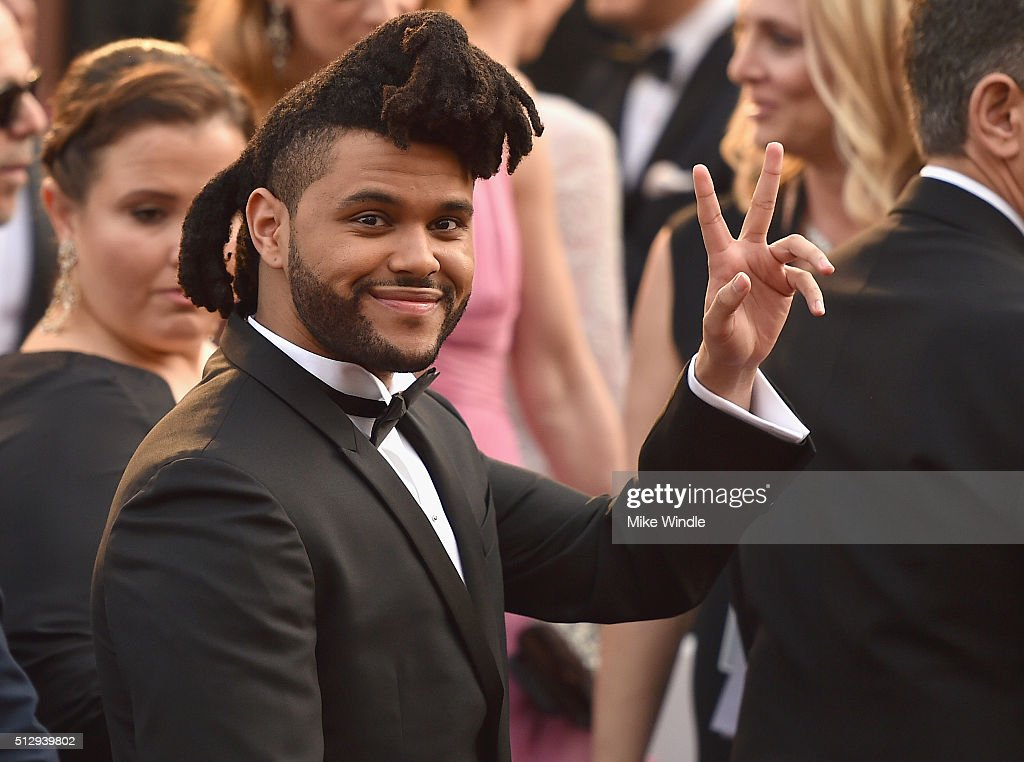 The Weekend attends the 88th Annual Academy Awards at Hollywood & Highland Center on February 28, 2016 in Hollywood, California.