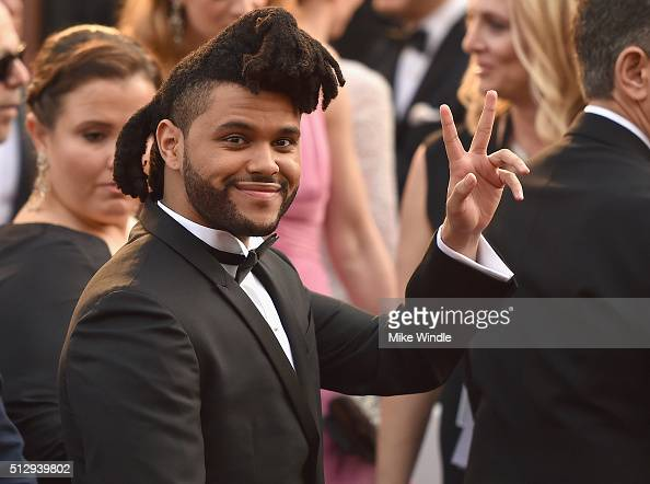 The Weekend attends the 88th Annual Academy Awards at Hollywood Highland Center on February 28 2016 in Hollywood California