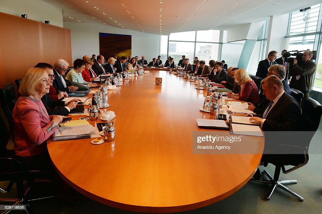 The weekly cabinet meeting carries out at the Chancellery in Berlin, Germany on May 04, 2016.