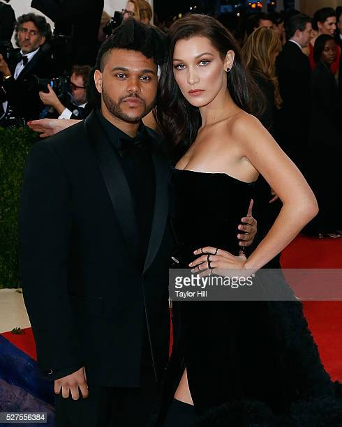 The Weeknd and Bella Hadid attend 'Manus x Machina Fashion in an Age of Technology' the 2016 Costume Institute Gala at the Metropolitan Museum of Art...