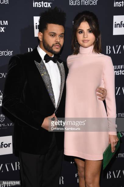 The Weeknd and Selena Gomez attend Harper's BAZAAR Celebration of 'ICONS By Carine Roitfeld' at The Plaza Hotel presented by Infor Laura Mercier...