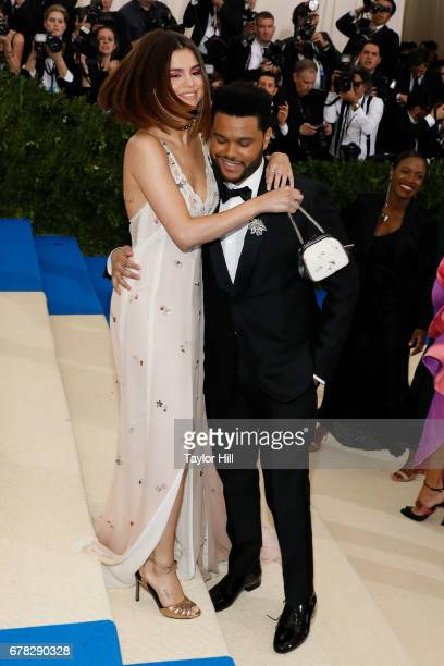 The Weeknd and Selena Gomez attend 'Rei Kawakubo/Commes Des Garcons Art of the InBetween' the 2017 Costume Institute Benefit at Metropolitan Museum...