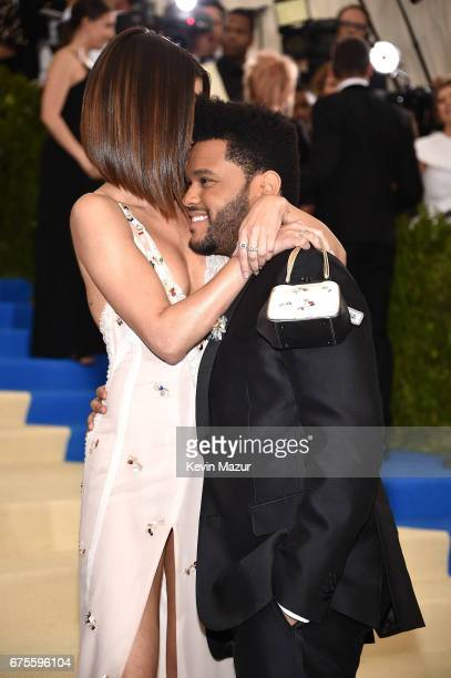 The Weeknd and Selena Gomez attend the 'Rei Kawakubo/Comme des Garcons Art Of The InBetween' Costume Institute Gala at Metropolitan Museum of Art on...
