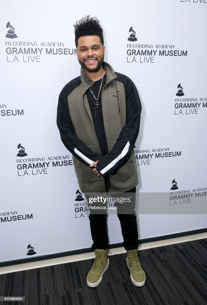 The Weeknd at A Special Performance By The Weeknd at The GRAMMY Museum on August 15, 2017 in Los Angeles, California.