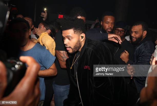 The Weeknd attends Hot 97 Who's Next With Belly at SOB's on November 14 2017 in New York City