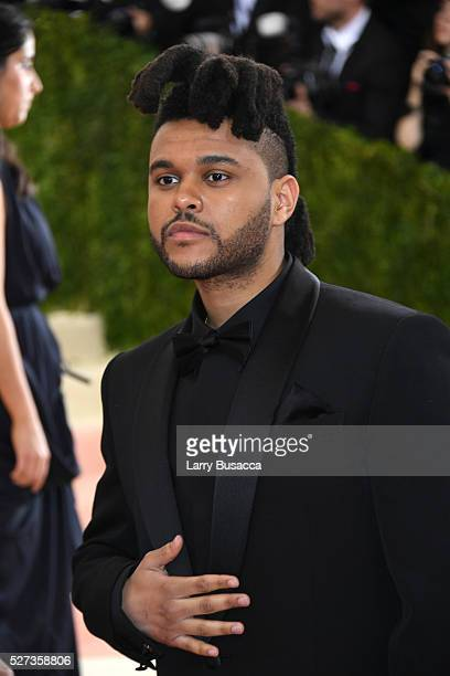The Weeknd attends the 'Manus x Machina Fashion In An Age Of Technology' Costume Institute Gala at Metropolitan Museum of Art on May 2 2016 in New...