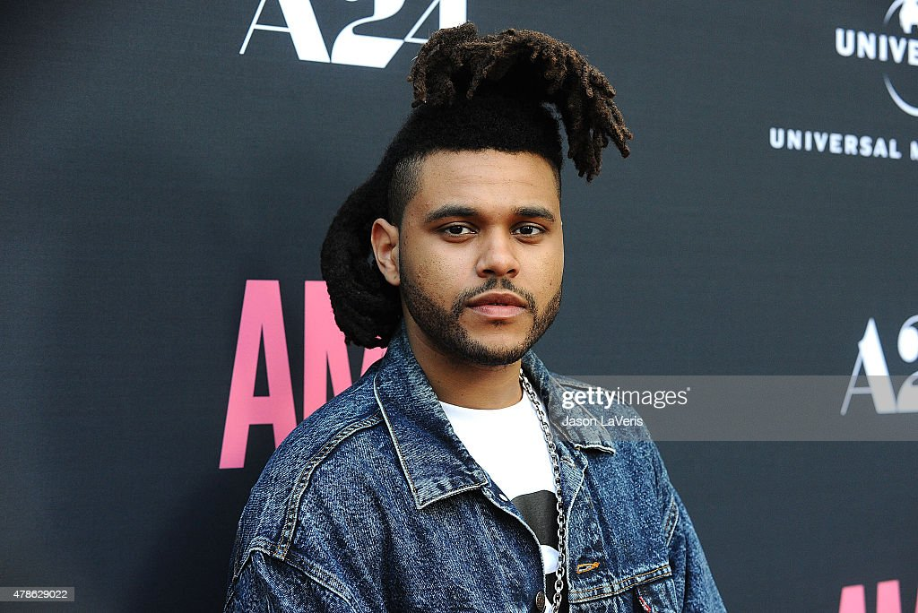 <a gi-track='captionPersonalityLinkClicked' href=/galleries/search?phrase=The+Weeknd+-+Musician&family=editorial&specificpeople=8008743 ng-click='$event.stopPropagation()'>The Weeknd</a> attends the premiere of 'Amy' at ArcLight Cinemas on June 25, 2015 in Hollywood, California.
