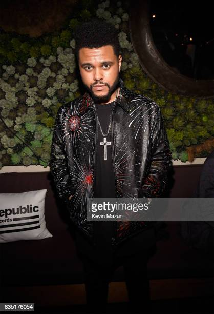 The Weeknd attends the Republic Records GRAMMY after party at Catch LA on February 12 2017 in West Hollywood California