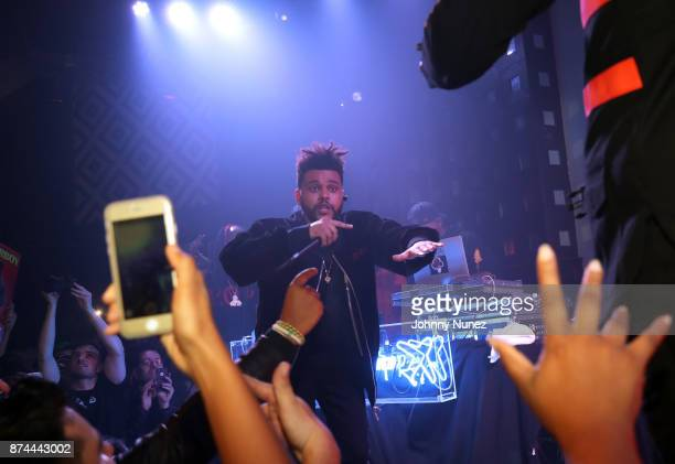 The Weeknd performs at SOB's on November 14 2017 in New York City