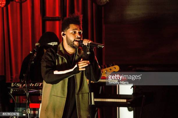 The Weeknd performs at The GRAMMY Museum on August 15 2017 in Los Angeles California