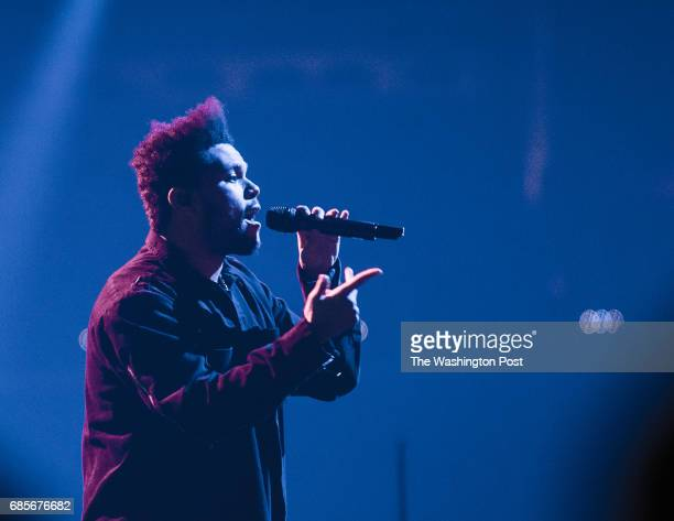 The Weeknd performs at the Verizon Center on Thursday night