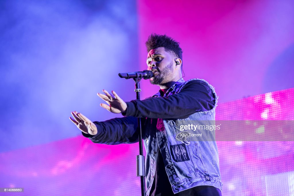 The Weeknd performs in concert during day 1 of Festival Internacional de Benicassim (FIB) on July 13, 2017 in Benicassim, Spain.
