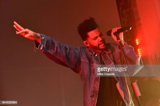 The Weeknd performs onstage during Harper's BAZAAR Celebration of 'ICONS By Carine Roitfeld' at The Plaza Hotel presented by Infor Laura Mercier...