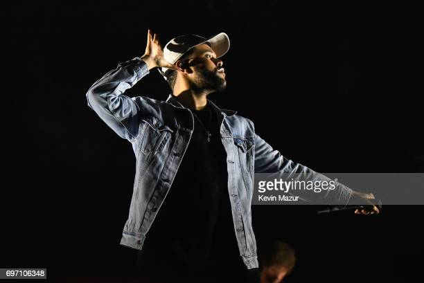 The Weeknd performs onstage during the 2017 Firefly Music Festival on June 17 2017 in Dover Delaware