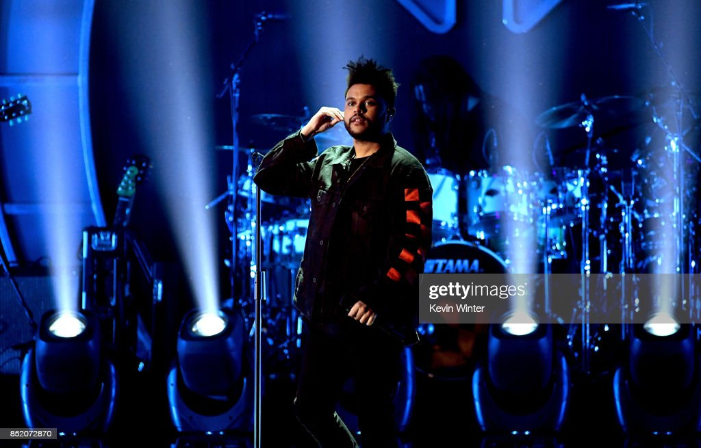 The Weeknd performs onstage during the 2017 iHeartRadio Music Festival at T-Mobile Arena on September 22, 2017 in Las Vegas, Nevada.