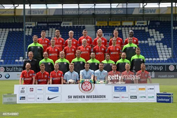 The Wehen Wiesbanden team Maximilian Ahlschwede Marco Koenigs Michael Wiemann Soufian Benyamina Nico Herzig Robert Mueller JosePierre Vunguidica...