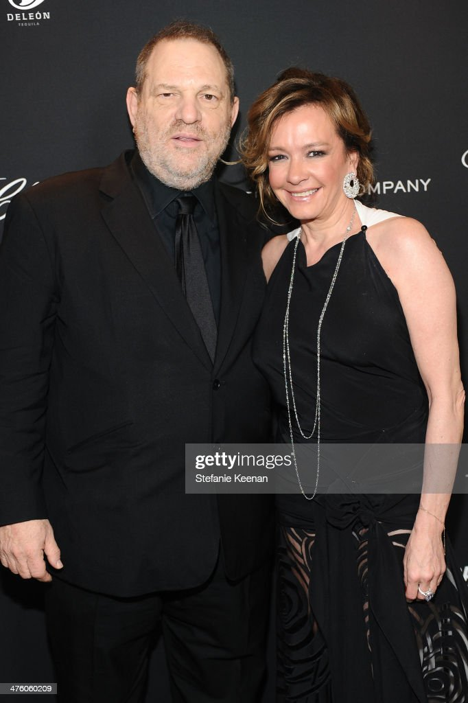 The Weinstein Company Co-Chairman <a gi-track='captionPersonalityLinkClicked' href=/galleries/search?phrase=Harvey+Weinstein&family=editorial&specificpeople=201749 ng-click='$event.stopPropagation()'>Harvey Weinstein</a> (L) and Chopard Co-President and Creative Director Caroline Scheufele attend The Weinstein Company Academy Award party hosted by Chopard on March 1, 2014 in Beverly Hills, California.