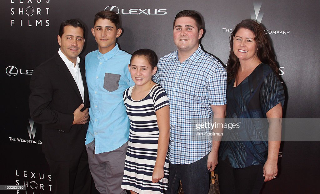 The Weinstein Company COO David Glasser (L) and family attend the 'Life is Amazing' Lexus Short Films Series at SVA Theater on August 6, 2014 in New York City.