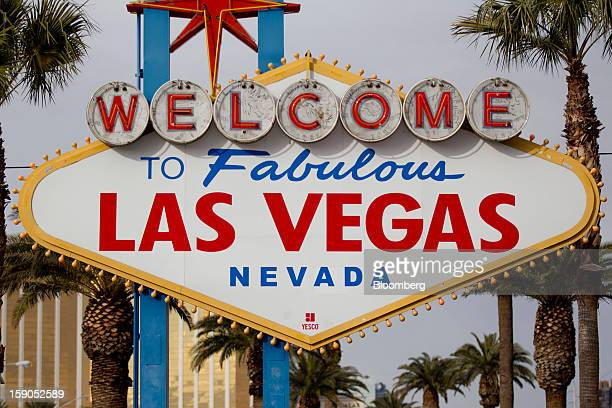 The 'Welcome to Fabulous Las Vegas' sign stands along the Strip in Las Vegas Nevada US on Sunday Jan 6 2012 The 2013 International Consumer...