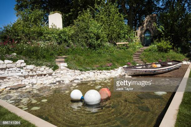 The 'Welcome to the Yorkshire Garden' on display at the Chelsea Flower Show on May 22 2017 in London England The prestigious Chelsea Flower Show held...
