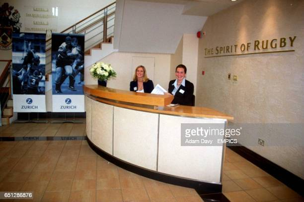 The welcoming desk for the Spirit of Rugby room at Twickenham