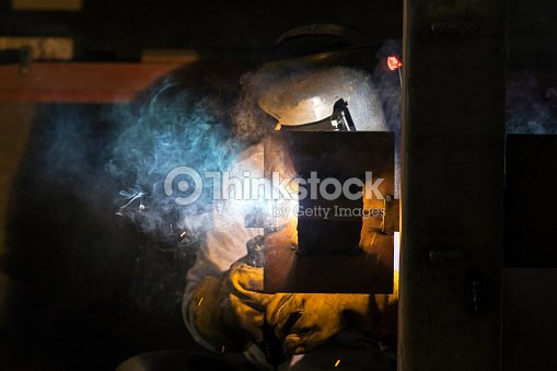 The Welder Is Welding At Horizontal Position This Is A Welder Test