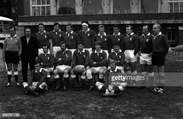 The Welsh rugby team 1970 Coach Clive Rowlands DThomas Stuart Gallacher Barry Llewelyn Mervyn Davies Ron Matthias Dave Morris John Lloyd and Jack...