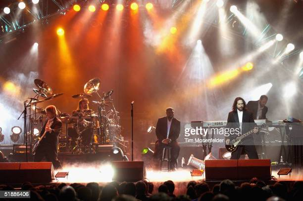 The west coast touring production of the Trans Siberian Orchestra perform at the HP Pavilion on December 21 2004 in San Jose California