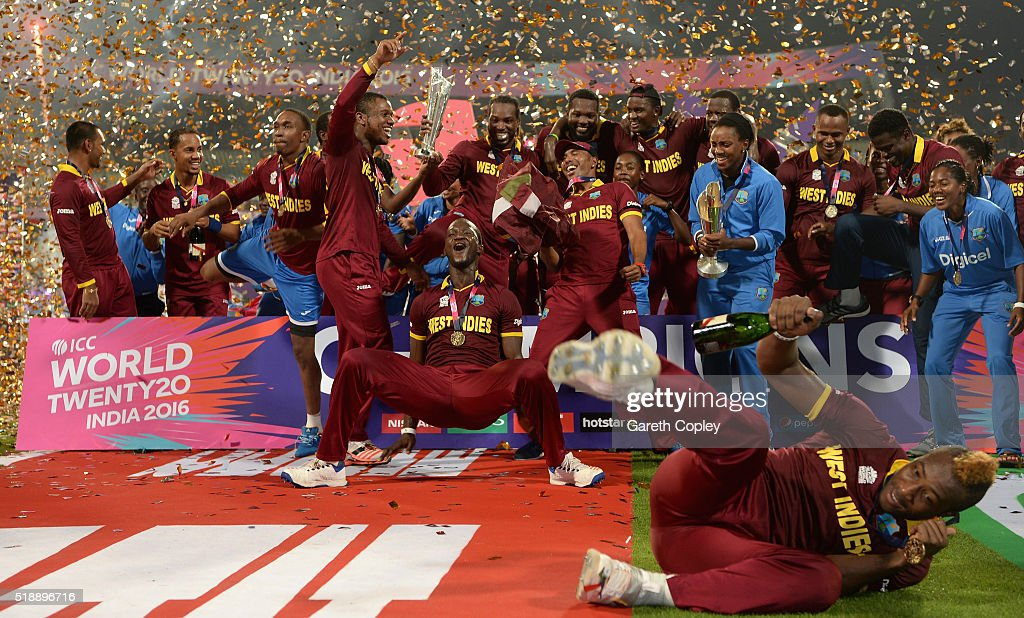 ICC World T20 trophy after winning the ICC World Twenty20 India 2016 ...