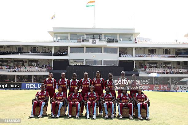 The West Indies team ahead of the final between Australia and West Indies of the Women's World Cup India 2013 played at the Cricket Club of India...