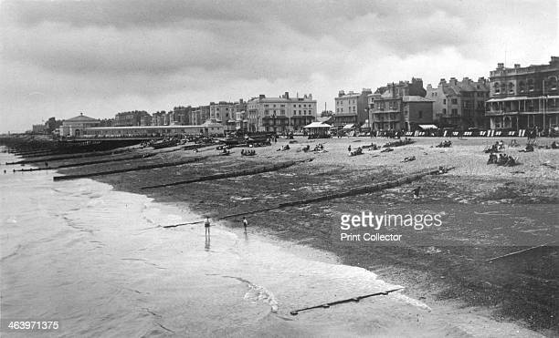 The west sea front Worthing West Sussex c1900sc1920s