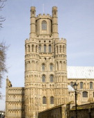The West tower of Ely cathedral Cambridgeshire England