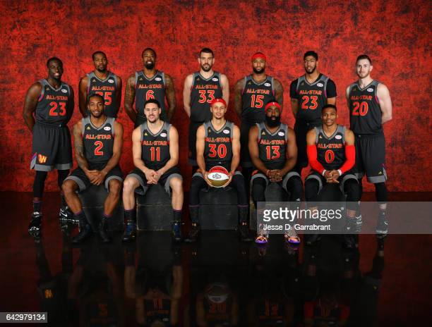 The Western Conference AllStars poses for a portrait during the NBA AllStar Game as part of 2017 AllStar Weekend at the Smoothie King Center on...