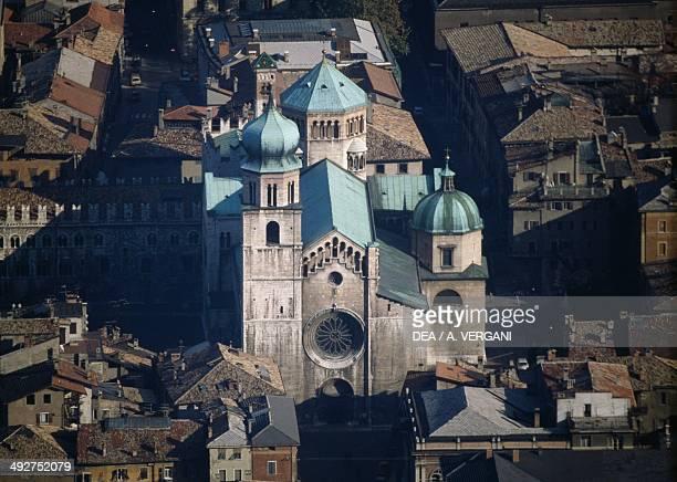 The western facade of Trento Cathedral 14th century Trento TrentinoAlto Adige Italy