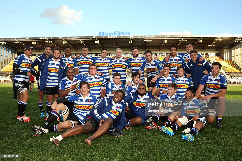 The Western Province team pose for a picture after the match between Saracens and DHL Western Province at Allianz Park on November 9 2014 in Barnet...